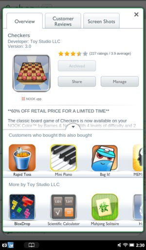 Nook app store post-purchase